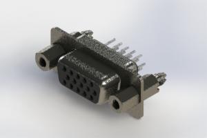 638-015-330-047 - Vertical High Density D-Sub Connector