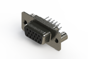 638-015-330-049 - Vertical High Density D-Sub Connector