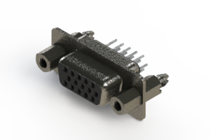 638-015-330-067 - Vertical High Density D-Sub Connector