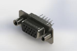 638-015-330-268 - Vertical High Density D-Sub Connector
