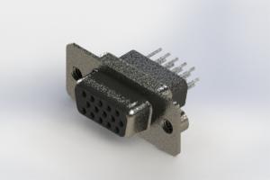 638-015-331-072 - Vertical High Density D-Sub Connector