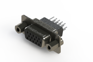 638-015-331-253 - Vertical High Density D-Sub Connector