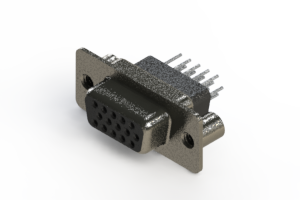 638-015-331-259 - Vertical High Density D-Sub Connector