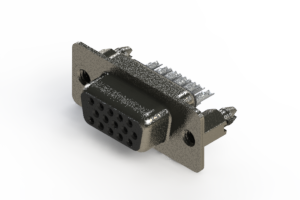 638-015-332-046 - Vertical High Density D-Sub Connector