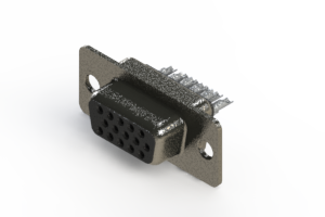 638-015-332-061 - Vertical High Density D-Sub Connector