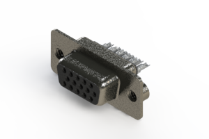 638-015-332-062 - Vertical High Density D-Sub Connector