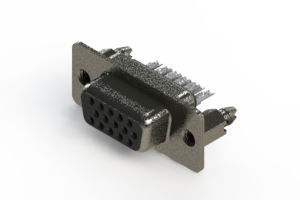 638-015-332-066 - Vertical High Density D-Sub Connector