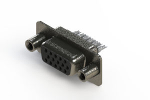 638-015-332-068 - Vertical High Density D-Sub Connector