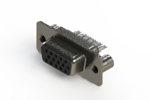638-015-332-069 - Vertical High Density D-Sub Connector