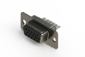 638-015-332-261 - Vertical High Density D-Sub Connector