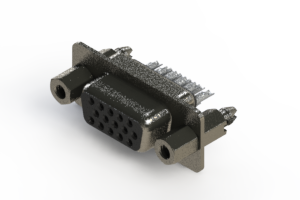 638-015-332-267 - Vertical High Density D-Sub Connector