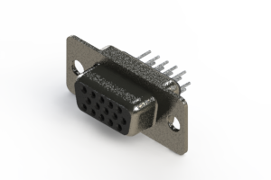 638-015-630-041 - Vertical High Density D-Sub Connector