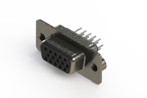 638-015-630-042 - Vertical High Density D-Sub Connector