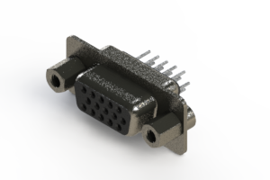 638-015-630-043 - Vertical High Density D-Sub Connector