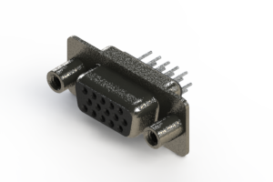 638-015-630-248 - Vertical High Density D-Sub Connector