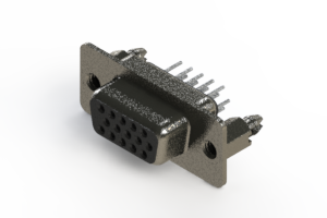 638-015-630-266 - Vertical High Density D-Sub Connector