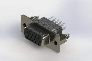 638-015-631-056 - Vertical High Density D-Sub Connector