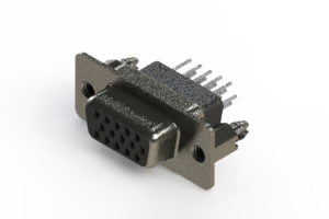 638-015-631-076 - Vertical High Density D-Sub Connector