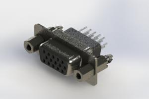 638-015-631-257 - Vertical High Density D-Sub Connector