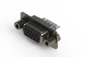 638-015-632-043 - Vertical High Density D-Sub Connector