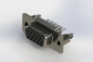 638-015-632-046 - Vertical High Density D-Sub Connector