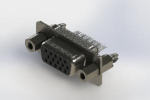 638-015-632-047 - Vertical High Density D-Sub Connector