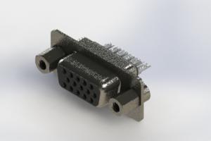 638-015-632-243 - Vertical High Density D-Sub Connector