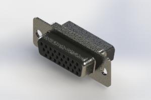 638-026-010-051 - Vertical High Density D-Sub Connector