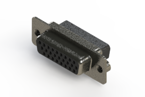 638-026-010-052 - Vertical High Density D-Sub Connector