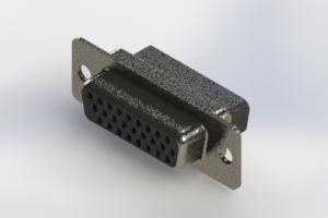 638-026-010-251 - Vertical High Density D-Sub Connector