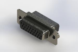 638-026-010-252 - Vertical High Density D-Sub Connector