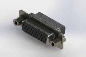 638-026-010-253 - Vertical High Density D-Sub Connector