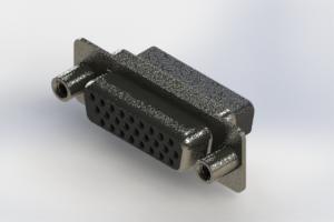 638-026-010-258 - Vertical High Density D-Sub Connector