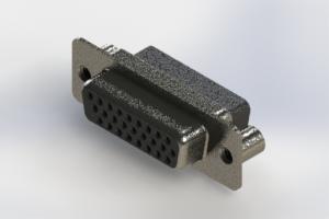 638-026-010-259 - Vertical High Density D-Sub Connector