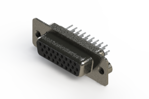 638-026-230-042 - Vertical High Density D-Sub Connector