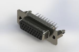 638-026-230-046 - Vertical High Density D-Sub Connector