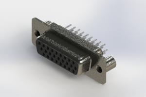 638-026-230-049 - Vertical High Density D-Sub Connector