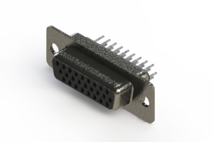 638-026-230-241 - Vertical High Density D-Sub Connector