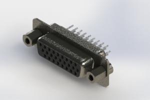 638-026-230-243 - Vertical High Density D-Sub Connector