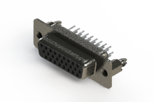 638-026-230-246 - Vertical High Density D-Sub Connector