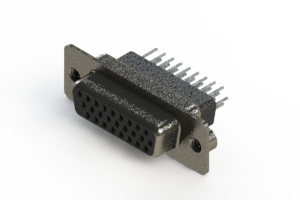 638-026-231-052 - Vertical High Density D-Sub Connector