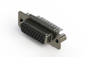 638-026-232-049 - Vertical High Density D-Sub Connector