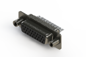 638-026-232-268 - Vertical High Density D-Sub Connector
