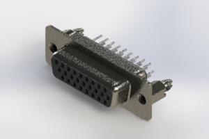 638-026-330-046 - Vertical High Density D-Sub Connector