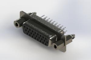 638-026-330-047 - Vertical High Density D-Sub Connector