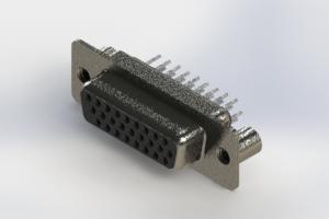 638-026-330-049 - Vertical High Density D-Sub Connector