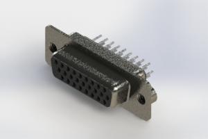 638-026-330-062 - Vertical High Density D-Sub Connector