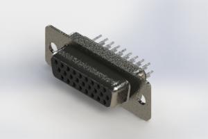 638-026-330-241 - Vertical High Density D-Sub Connector