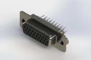 638-026-330-242 - Vertical High Density D-Sub Connector