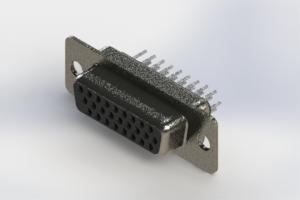 638-026-330-261 - Vertical High Density D-Sub Connector